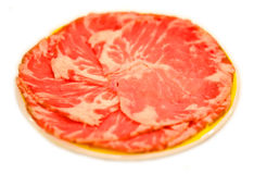 Slice Meat - ribeye. Raw ingredient for steak, suki yaki, or japanese Yakiniku Stock Photography