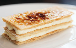 Slice of mille-feuille cake Stock Images