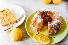 Bundt lemon cake Stock Image