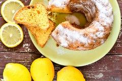 Bundt lemon cake Royalty Free Stock Photography