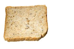 Slice of multigrain bread Royalty Free Stock Images