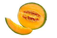 Slice of muskmelon Royalty Free Stock Photo
