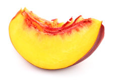 Slice of nectarine Stock Image