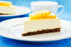 Slice of new York cheesecake Royalty Free Stock Image