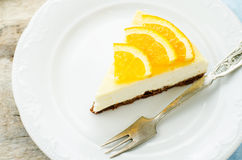 Slice of new York cheesecake Royalty Free Stock Photos