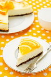 Slice of new York cheesecake Stock Photography