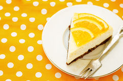 Slice of new York cheesecake Stock Images