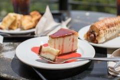 Slice of New York Cheesecake Royalty Free Stock Photo