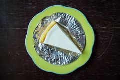 Slice of new york style cheesecake Stock Images