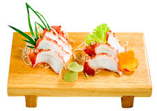 Slice octopus a taste of Japanese food isolated  Stock Photography