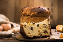 Free Slice Of A Panettone Close Up Stock Images - 103259904