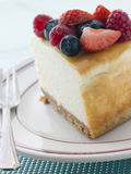 Slice Of New York Cheesecake On A Plate Royalty Free Stock Image