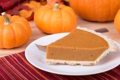 Slice Of Pumpkin Pie Royalty Free Stock Photos