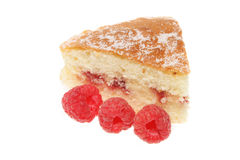 Slice Of Raspberry Sponge Stock Image