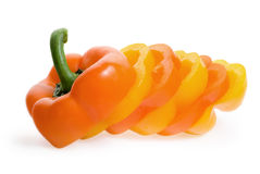 Slice Of Sweet Pepper Stock Images