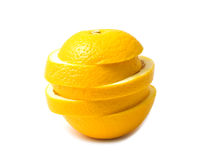 Slice orange Royalty Free Stock Photos