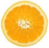 Slice of orange. A slice of orange, isolated on white stock image