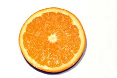 Slice of orange. On white background Royalty Free Stock Image