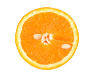 Slice of orange. Isolated on white background Stock Photos