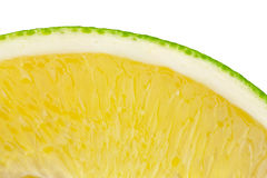 Slice of orange. Slice of juicy orange on white background. This has a clipping path Royalty Free Stock Image