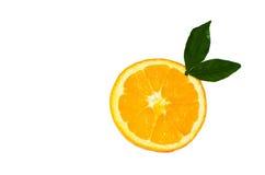 Slice of orange. Orange slice isolated on white background Royalty Free Stock Photo