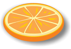 Slice of orange Stock Photo