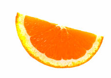 Slice of an orange. Royalty Free Stock Photography
