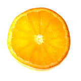 Slice of orange. The orange is just ready to be squeezed Stock Image