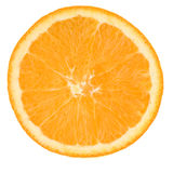 Slice orange. Isolated on a white stock photography