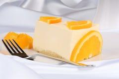 Slice of orange bavarian cream (bavarese) Stock Images