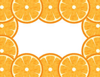 Slice Orange Border Stock Photography