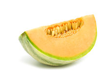 Slice orange cantaloupe melon Royalty Free Stock Image