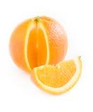 Slice and orange citrus Stock Images