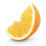 Slice of orange citrus fruit isolated on white Royalty Free Stock Photography