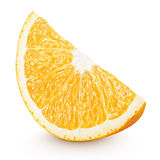 Slice of orange citrus fruit isolated on white Royalty Free Stock Photo