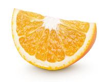 Slice of orange citrus fruit isolated on white Stock Images