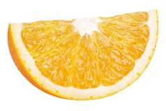 Slice of orange citrus fruit isolated on white Stock Photography