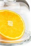 Slice of an orange Stock Images