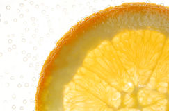 Slice of an orange fruit Stock Photo