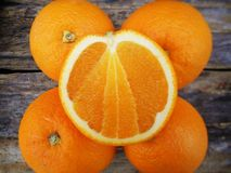 Slice of orange fruit Royalty Free Stock Photos