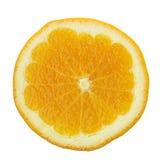Slice of orange fruit isolated Stock Photography