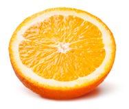 Slice of orange. Fruit isolated on white royalty free stock photography