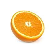 Slice of orange fruit isolated on white background Royalty Free Stock Image