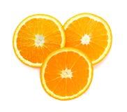 Slice of orange fruit isolated on white background. Fresh orange isolated on white background royalty free stock photo