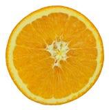 Slice of orange fruit isolated on white Royalty Free Stock Images
