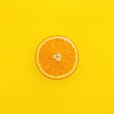 Slice of orange fruit Stock Photography