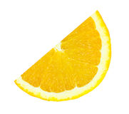 Slice of orange isolated Royalty Free Stock Images