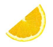 Slice of orange isolated Royalty Free Stock Images