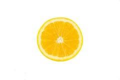 Slice orange. Isolated on over white background Stock Images