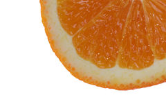 Slice of an orange. Isolated part of an orange slice Stock Images